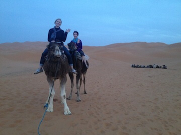 Sue on the Camels