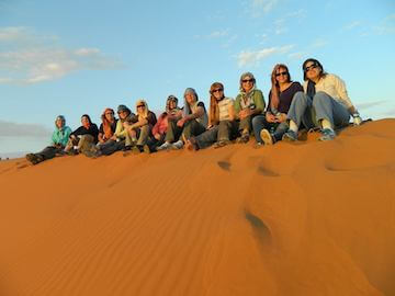 Pam L ladies group in sahara