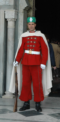 Rabat-Mohammed-V-Masoleum-guard-standing-060503