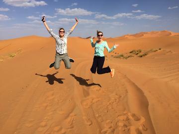 David A girls in Desert