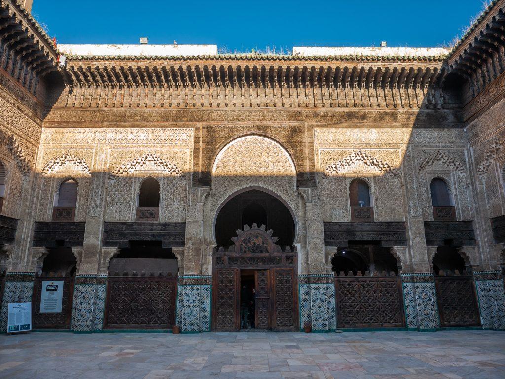 Madrasa Bou Inania on a tour of Fes