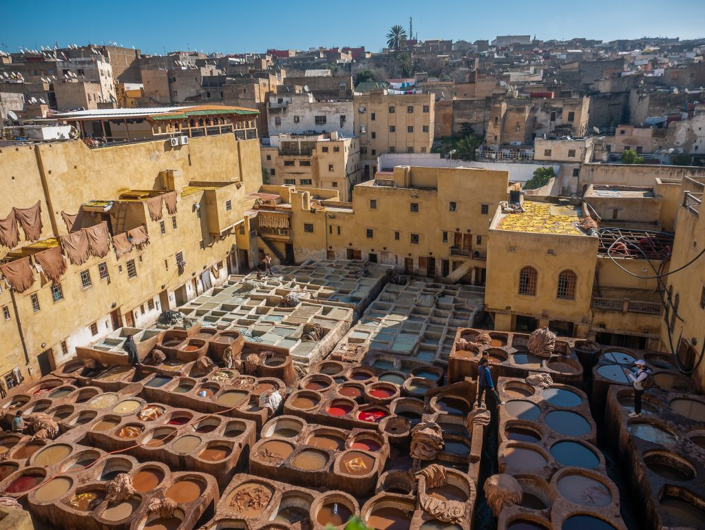 Amazing tanneries in Fes
