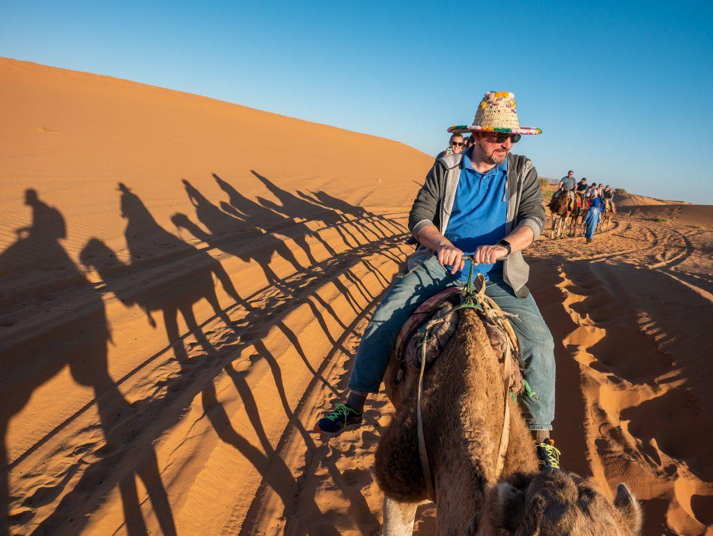 Camel ride in Sahara Morocco