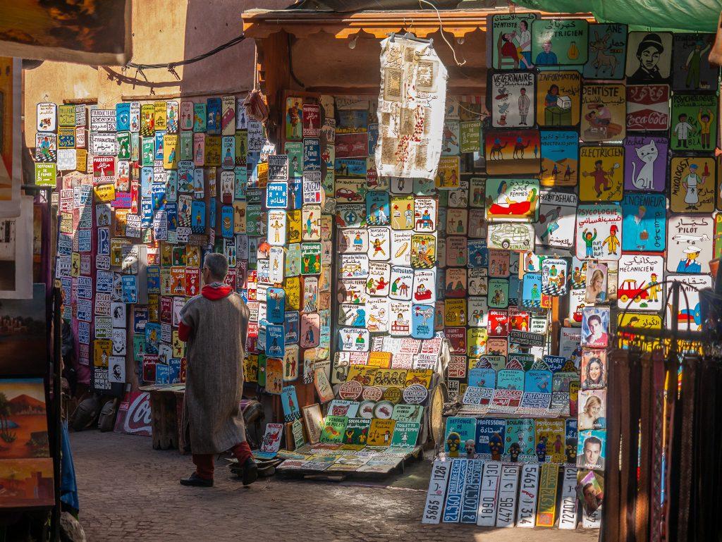 Souvenir shopping in the Marrakech medina