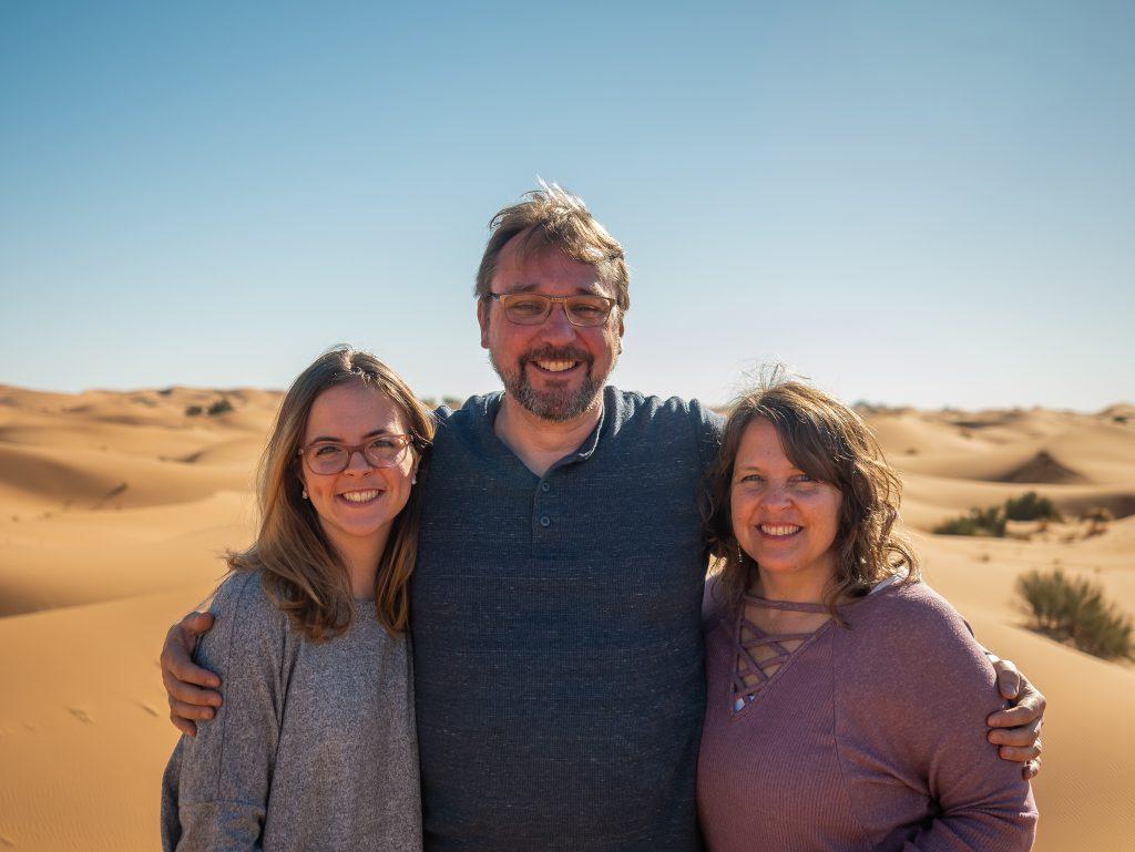 Travelers enjoying tour to the Sahara in Morocco